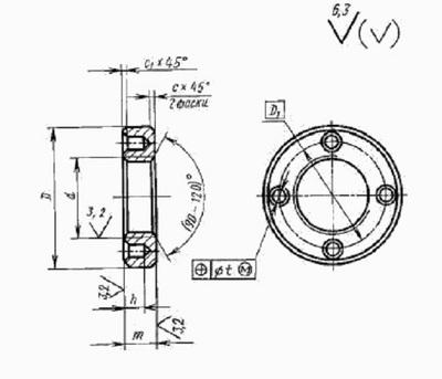 Гайка круглая с отверстиями на торце «под ключ» ГОСТ 6393-73 - main